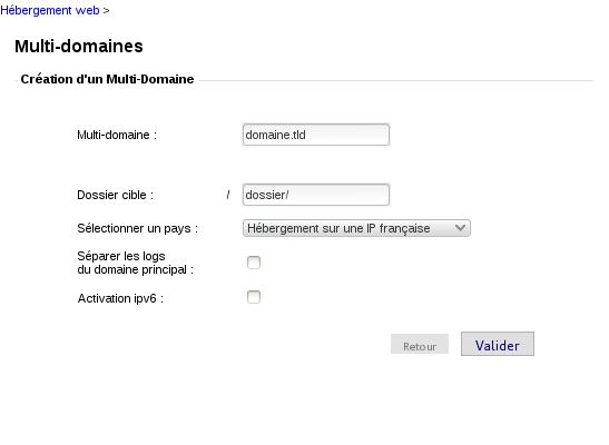 OVH : MultiDom