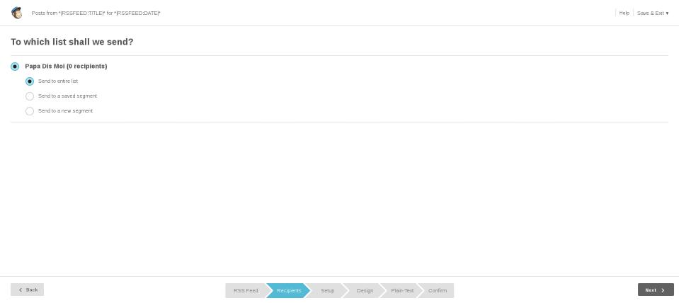 Mailchimp : Définir la liste des destinataires