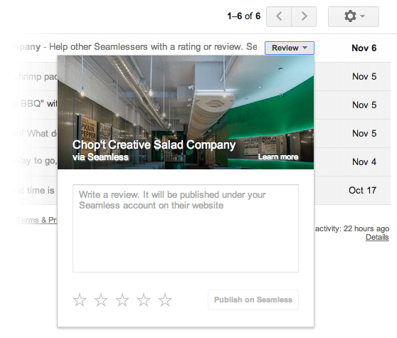 GMail : Quick Action