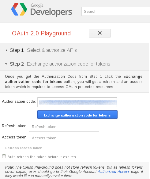 Google Talk : OAuth 2 : Etape 3