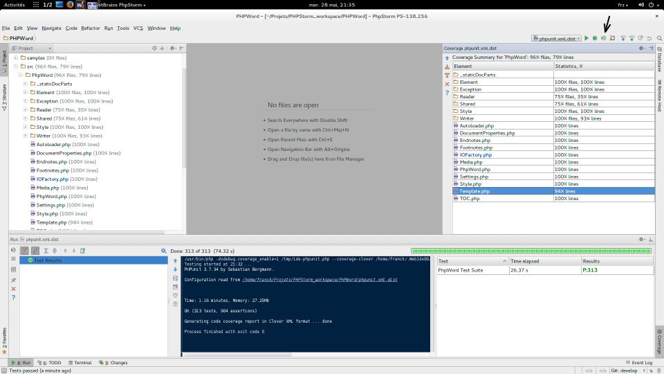 PHPStorm : Code Coverage avec PHPUnit